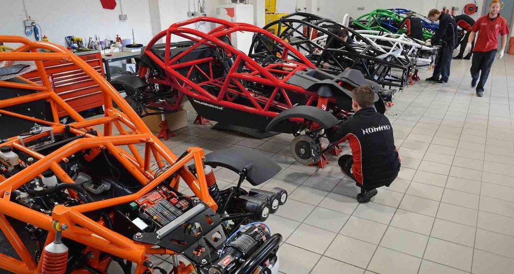 Arial Motor Company workshop